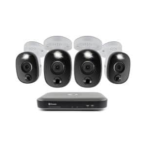 8-Channel 4K UHD 2TB DVR Surveillance System with 4 Wired 4K Bullet Cameras
