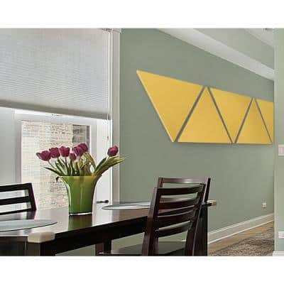 Paintable White Fabric Triangle 24 in. x 24 in. x 24 in. Sound Absorbing Acoustic Panels (2-Pack)