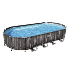 24 ft. x 12 ft. Oval 48 in. D Metal Frame Pool Set