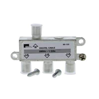 5 MHz - 1 GHz 3-Way High-Performance Cable Splitter (Standard Package, 3 Splitters)