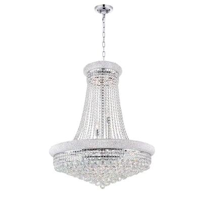 Empire 19-light chrome chandelier