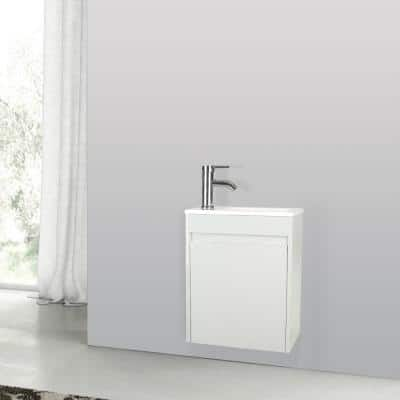 9.8 in. W x 16 in. D Bath Vanity in Gray with MDF Vanity Top in Gray with Gray Basin