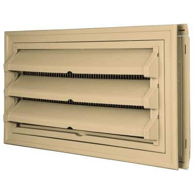 9 3/8 in. x 17 1/2 in. Foundation Vent Kit W/Trim Ring & Optional Fixed Louvers (Galvanized Screen)Sandstone Maple #045