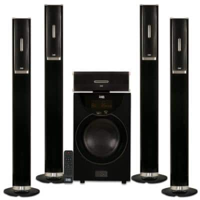 Tower 5.1 Bluetooth Home Speaker System with 8 in. Powered Sub