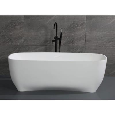 68.4 in. Resin Flatbottom Bathtub in White
