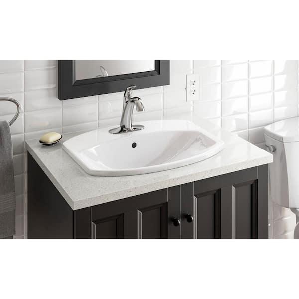 Kohler Cimarron Drop In Vitreous China Bathroom Sink In White K 2351 4 0 The Home Depot