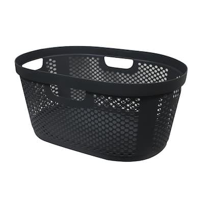 40 L Laundry Basket Grey