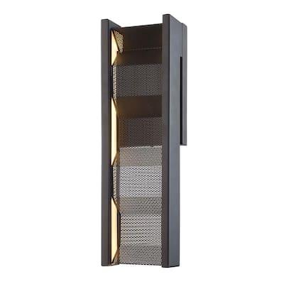 Fuze 14-Watt Modern Bronze Integrated LED Wall Sconce