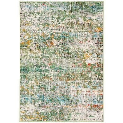 Madison Green/Turquoise 6 ft. x 9 ft. Area Rug