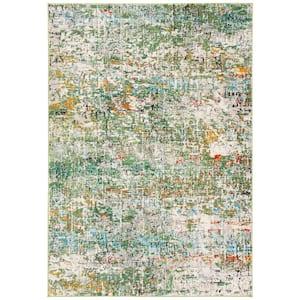 Madison Green/Turquoise 8 ft. x 10 ft. Geometric Area Rug