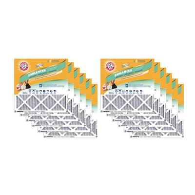 14 x 24 x 1 Odor Allergen and Pet Dander Control Air Filter (12-Pack)