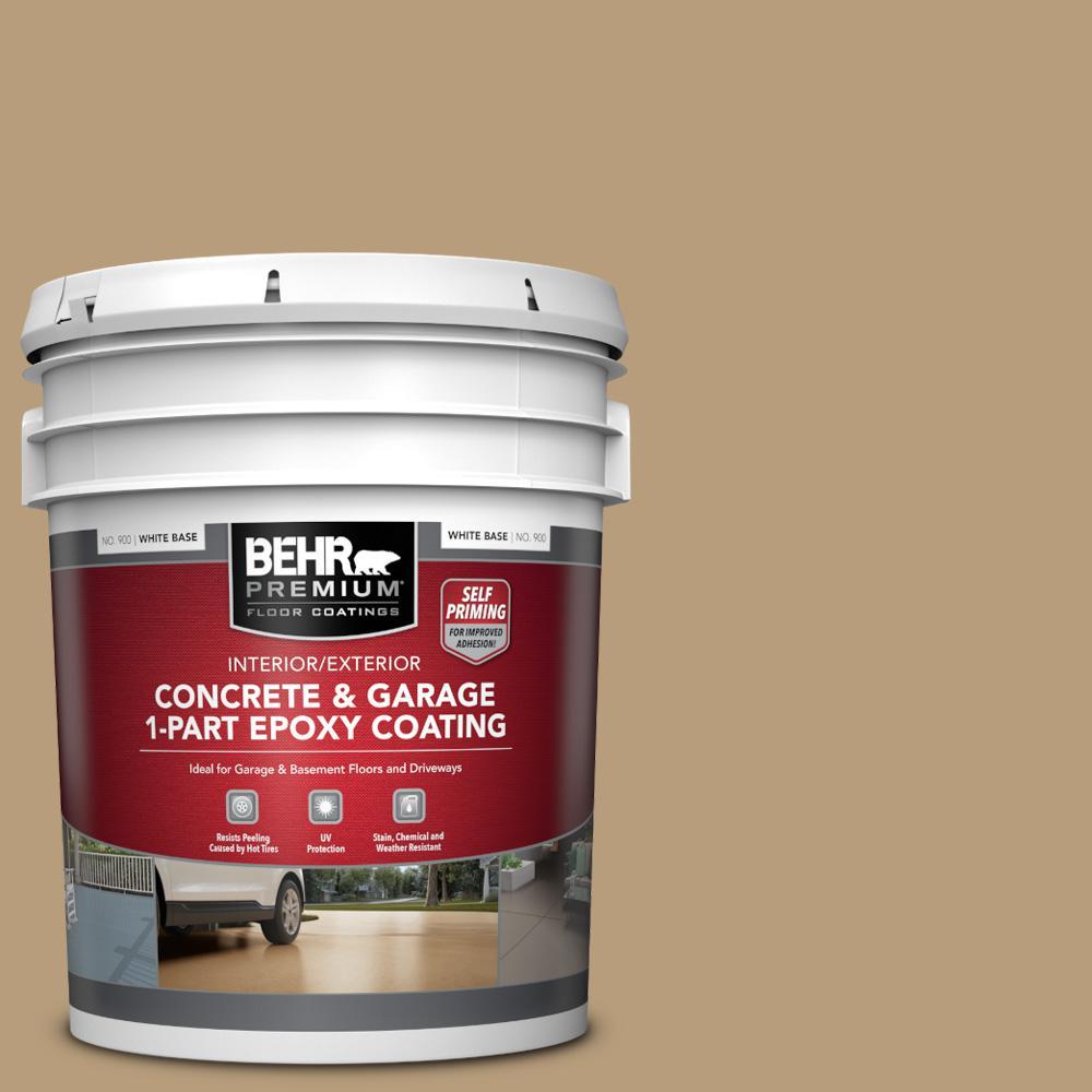 5 gal. #PFC-28 Desert Sandstone Self-Priming 1-Part Epoxy Satin Interior/Exterior Concrete and Garage Floor Paint
