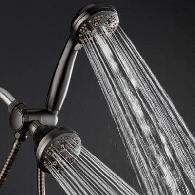 48-spray 4 in. Dual Shower Head and Handheld Shower Head with Body spray in Oil Rubbed Bronze