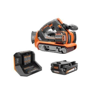 18V Brushless Cordless 3 in. x 18 in. Belt Sander Kit w/ Dust Bag, Sanding Belt, 18V Lithium-Ion 2 Ah Battery, & Charger