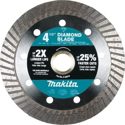4-1/2 in. Diamond Blade, Turbo, Hard Material