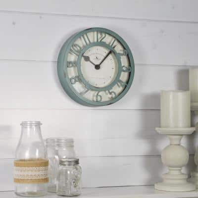 8 in. Sage Raised Wall Clock