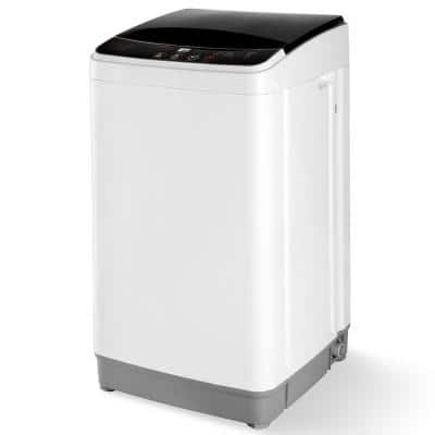 15.4 in. 0.45 cu. ft. High-Efficiency 110-Volt White Top Load Washing Machine with 10 Washing Programs