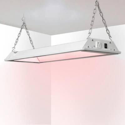 HNW 2 ft. 30-Watt White Full Spectrum LED Linkable Plant Grow Light Fixture, Bright White