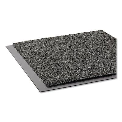 Walk-A-Way Gray 36 in. x 60 in. Olefin Indoor Wiper Commercial Floor Mat