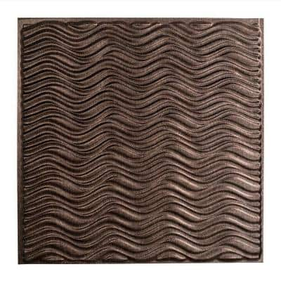 Current 2 ft. x 2 ft. Smoked Pewter Lay-In Vinyl Ceiling Tile (20 sq. ft.)