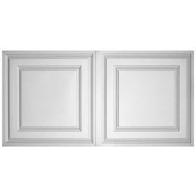 Stratford Feather-Light White 2 ft. x 4 ft. Lay-in Ceiling Panel (Case of 10)