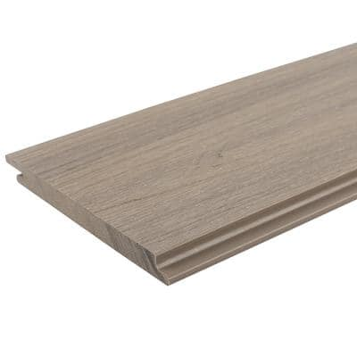 All Weather System 0.5 in. x 5.5 in. x 1 ft. Roman Antique Composite Siding Sample Board
