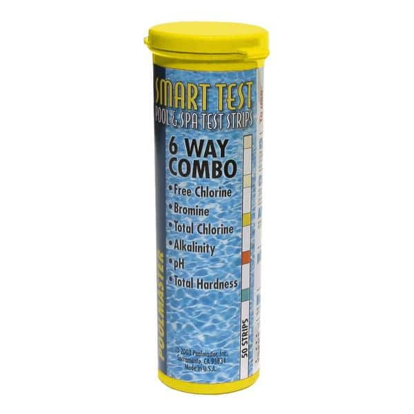 Poolmaster Smart Test 6 Way Swimming Pool And Spa Water Test Strips 50 Count 22212 The Home Depot