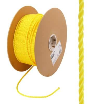 1/4 in. x 1 ft. Twisted Polypropylene Rope in Yellow