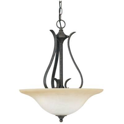 Prestige 3-Light Sable Bronze Hanging Pendant