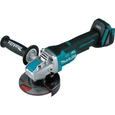 18V LXT Lithium-Ion Brushless Cordless 4-1/2 in./5 in. Paddle Switch X-LOCK Angle Grinder with AFT, Tool Only
