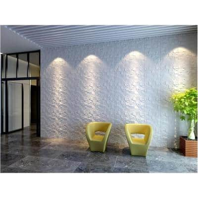 19.6 in. x 19.6 in. x 1 in. Off-White Plant Fiber Ice Design Glue-On Wainscot Wall Panels (10-Pack)