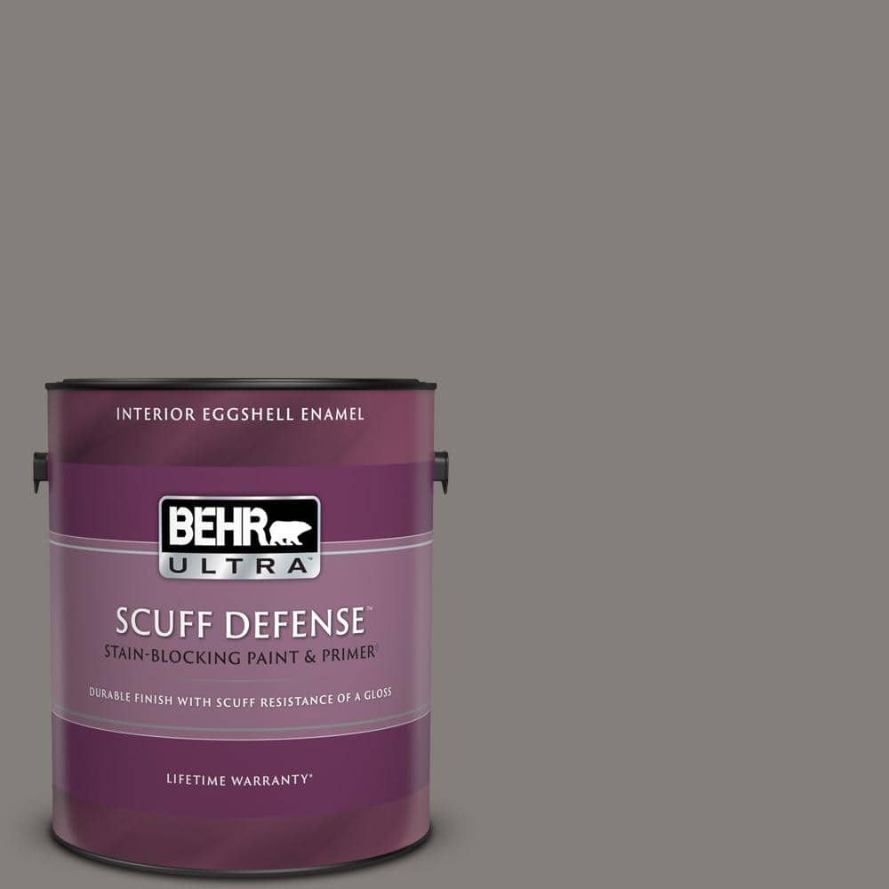 Behr Ultra 1 Gal Ppu18 17 Suede Gray Extra Durable Eggshell Enamel Interior Paint Primer 275301 The Home Depot