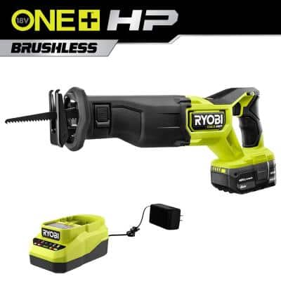 ONE+ HP 18V Brushless Cordless Reciprocating Saw Kit with (1) 4.0 Ah Battery and Charger