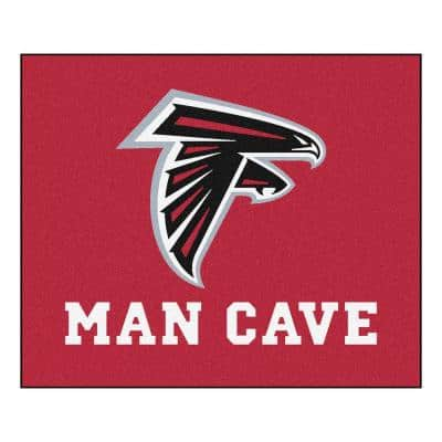 Atlanta Falcons Red Man Cave 5 ft. x 6 ft. Area Rug