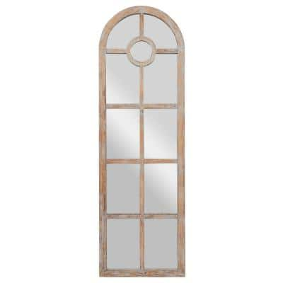 Oversized Arch Distressed Brown Mirror (72 in. H x 23 in. W)