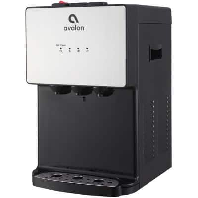A12 Countertop Bottleless Water Dispenser, 3 Temperatures, Self-Cleaning, Stainless Steel