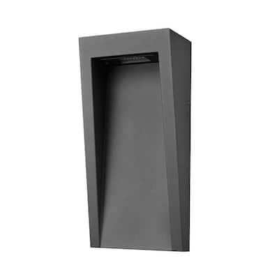 Vincent 1-Light Matte Black 12-Watt Integrated LED Outdoor/Indoor Wall Lantern Wall Sconce
