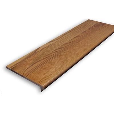 0.625 in. x 11.5 in. x 60 in. Prefinished Gunstock Red Oak Retread