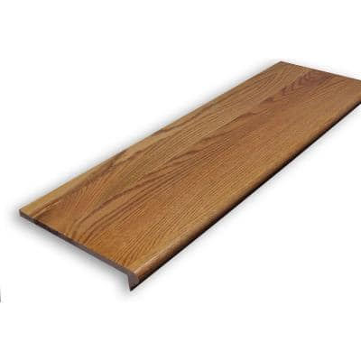 0.625 in. x 11.5 in. x 36 in. Prefinished Gunstock Red Oak Retread