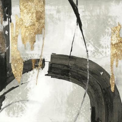 """72 in. x 72 in. """"Black Ink I Gold Version"""" by PI Studio Wall Art"""