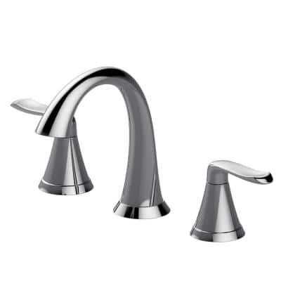 Piccolo 8 in. Widespread 2-Handle Bathroom Faucet with Drain Assembly in Chrome