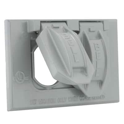Gray 1-Gang Weatherproof Duplex Cover