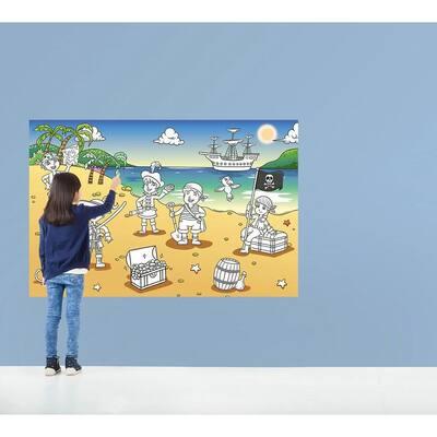 69 in. H x 45 in. W Pirate Bay Wall Mural