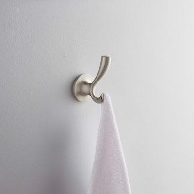 Willamette Single Robe Hook in Brushed Nickel