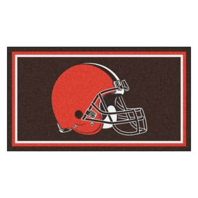 NFL - Cleveland Browns 3 ft. x 5 ft. Ultra Plush Area Rug