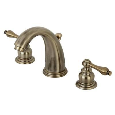 Victorian 8 in. Widespread 2-Handle Bathroom Faucet in Antique Brass