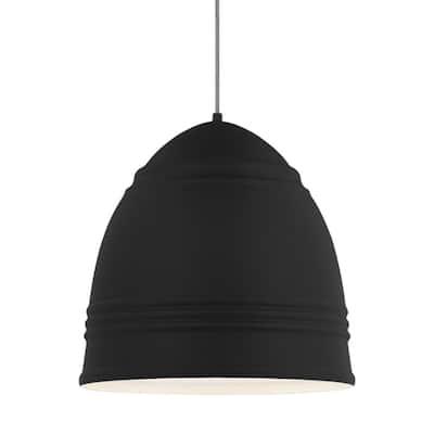 Loft Grande 3-Light Black Pendant