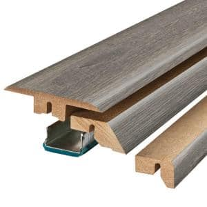 Sedona Taupe Oak .75 in. Thick x 2.37 in. Wide x 78.75 in. Length Laminate 4-in-1 Molding