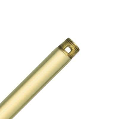 24 in. Polished Brass Extension Downrod for 11 ft. ceilings