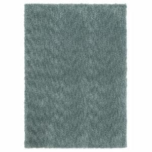 Ethereal Shag Aqua Sea 3 ft. x 5 ft. Indoor Area Rug